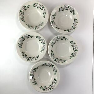 Syracuse China Dogwood Soup - Cereal Bowl Smooth Rim Restaurant Ware Set Of 5