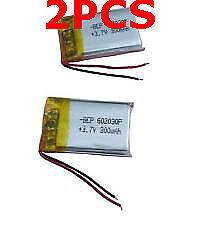 2PCS 3.7v 300mah Polymer Li battery Lipo for bluetooth headset record pen Mp3