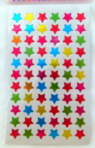 10 sheets of Small Star Shape Glittered Stickers (660 stickers)