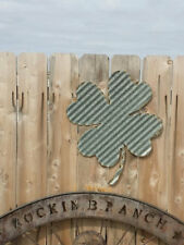 Shamrock/Vintage Corrugated Barn Tin/Sign/Wall Hanging/St. Patrick/Irish/Pub/