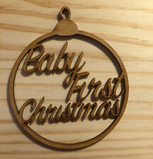 "New born ""Baby First Christmas"" Christmas Tree Bauble, Gift Tag"
