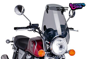 PUIG WINDSHIELD CUSTOM II-VISOR FOR HYOSUNG GV125 AQUILA 00-16 LIGHT SMOKE