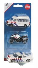 SIKU 1824 Dutch Police set of 3 (Mercedes Sprinter + Motor + Dodge / NEW