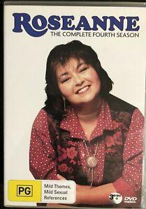 Roseanne Season 4 region DVD BOX SET (PAL, 3 Disc, 2006)