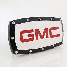 GMC Red Logo Black Trim Chrome Billet w/ Allen Bolts Tow Hitch Cover