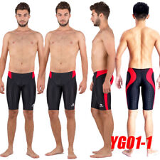 HXBY YG01-1 MEN'S COMPETITION TRAINING RACING JAMMERS SWIMMING TRUNKS 2XL SIZE32