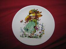 """Kaiser Gottschlich Little Girl in Garden Plate Decorative West Germany 7 5/8"""""""