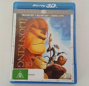 Disney THE LION KING 3D Diamond Edition BLU RAY 3D (3 Disc Pack)