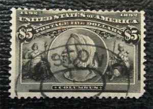 nystamps US Stamp # 245 Used $1350   U11x364
