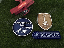 Barcelona Champions League 2011 Champions Winner Soccer Sleeve Patch Set 10-11