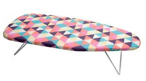 🔥 MINI IRONING IRON BOARD FUNKY FOLDABLE PORTABLE COMPACT TABLE TOP COVER