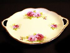 Royal Albert American Beauty Cake Plate with Open Handles