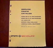 New Holland Service Parts Book Catalog Ford 361 & 391 CID Gas Engines 1975