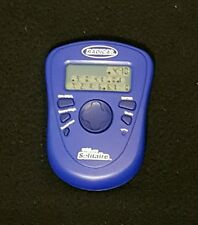 Radica Pocket Pyramid Solitaire Game Handheld Electronic Travel Blue 2005