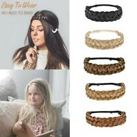 Lady Girl Braided Fairy Bohemian Braid Wig Wedding Beach hair band headband