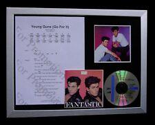 GEORGE MICHAEL+WHAM Young Guns Go LTD QUALITY CD FRAMED DISPLAY+FAST GLOBAL SHIP