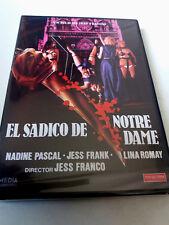 "DVD ""EL SADICO DE NOTRE DAME"" PRECINTADO SEALED JESS JESUS FRANCO LINA ROMAY NAD"