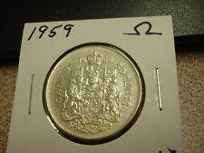 1959 -  Canada Silver 50 cents - Canadian half dollar