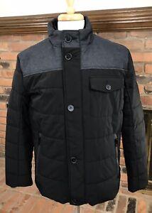 Tumi MIXED MEDIA Full-Zip Button-Placket Jacket $295 ~ Men's M / Black ~ NWT