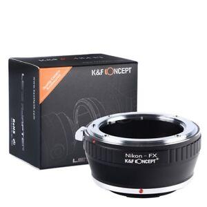 K&F Concept Lens Adapter Ring for Nikon AI F Mount Lens to Fuji FX Mount Camera