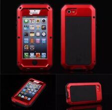 Gorilla Shockproof Aluminium Alloy Red Metal Case Apple iPhone 5 5S UK SELLER