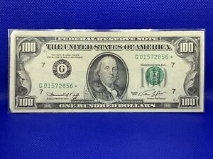 1974 G. $100 Federal reserve star Note F-2167G