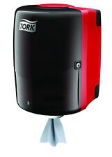 """New Shop Towel Centerfeed Dispenser by Tork (Red & """"Smoke""""): 659028A"""