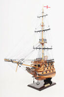 """HMS Victory Bow Section Wooden Tall Ship Model 19.5"""" Lord Nelson's Flagship"""