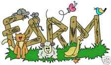 On The Farm Animals Machine Embroidery Designs 4x4 CD