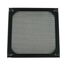 2x 120mm Anodized Aluminum Fan Filter Guard Black Dustproof 12cm 120 mm