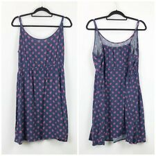 Gap XXL Womens Blue Floral Print Elastic Waist Tank Dress