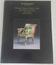Faberge Russian Works of Art and Objects of Vertu Sotheby's December 15 1989