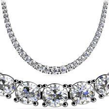 Tennis White Gold Round Fine Diamond Necklaces & Pendants