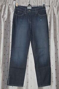 Zucchero Italy Women's Ladies, Straight Stretch Jeans Sz10~29W,28L~Mid Rise VGC