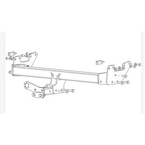 Witter Towbar for Toyota Hilux Pickup 2016 Onwards - Fixed Flange Tow Bar