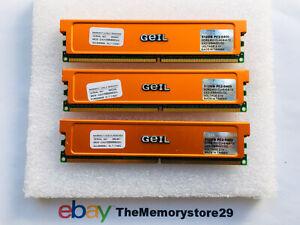 512MB X 3 GEIL DDR2 PC Desktop Memory RAM PC2-6400 800MHz DIMM Non ECC 240 Pin