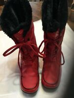 Sporto® Jamie Waterproof MidCalf LightWeight Lace-Up Boot Red 7M NWOT