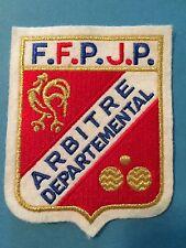 FFPJP Abritre Referee Fédération Française de Pétanque et Jeu Provençal Patch A