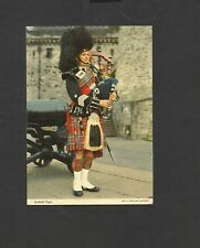 Vintage John Hinde postcard Scottish Piper Edinburgh posted 1981
