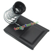 New Soldering Iron Gun Stand Holder Support Station Metal Base and Solder black