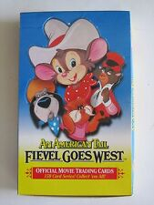 1991 Impel American Tail Fievel Goes West Trading Cards  Box Of 36 Packs