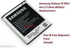New OEM Samsung EB425161LU 3.8V Battery for Galaxy S3 Mini Galaxy Ace 2 S Duos