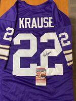 Paul Krause signed Jersey - Minnesota Vikings - JSA Authenticated