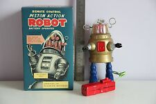 PISTON ROBOT ROBBY ROBOT TIN TOY WIND UP NOMURA ALPS YOSHIYA HORIKAWA TAKATOKU