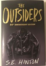 THE OUTSIDERS S.E. HINTON SIGNED 50TH ANNIVERSARY EDITION HARDCOVER BOOK