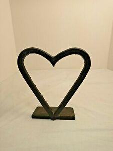 RARE Vtg Robert EMIG CAST IRON HEART DOOR STOP WEDGE PRIMITIVE