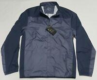 Nike Shield Full Zip Golf Jacket Windbreaker Carbon/Blue  892274-011