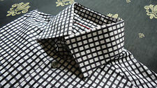 Eton size M/40/15 3/4 Slim Fit Men's Casual Shirts Striped Black&White NEW