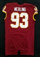 #93 Phillip Merling of Washington Redskins NFL Game Issued Worn Jersey