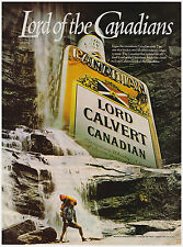 Original 1983 Lord Calvert Canadian Whiskey Vintage Print Ad